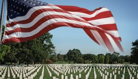Arlington National Cemetery and US Flag