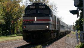 An Amtrak train.