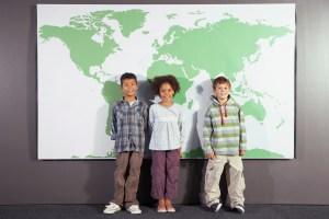 Schoolchildren Standing Side by Side